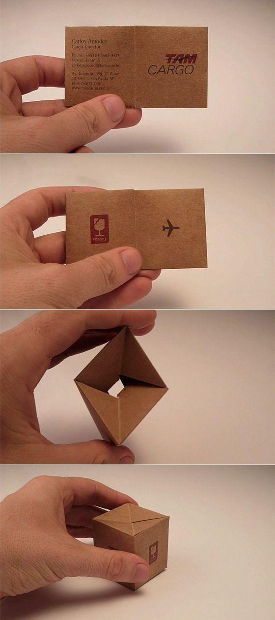 carte de visite façon mini carton pour un transporteur cargo