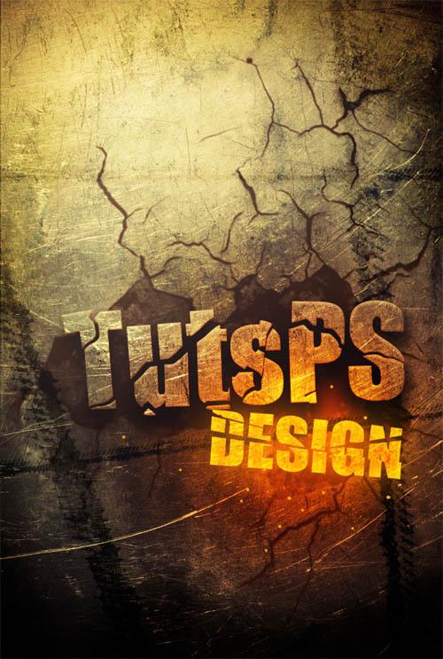 création typographie craquelé