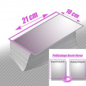 Cartes 10x21 Pelliculés Recto/Verso