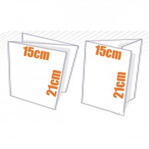 Depliant 3 volets - 2 plis - 135 gr couché brillant 15x20 cm
