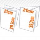 Depliant 3 volets - 2 plis - 135 gr couché brillant 21x30 cm