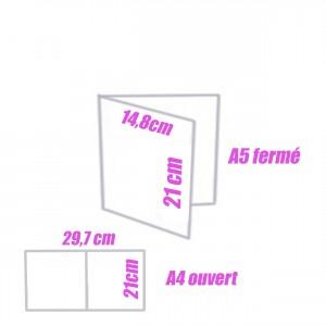 Depliants/Plaquettes A4 ouvert