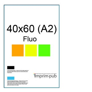 Affiches Fluo 40x60 (A2)
