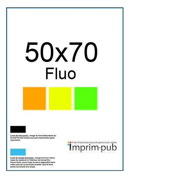 affiche fluo 50x700 impression affiches fluo 50x70 imprimer pas cher. Black Bedroom Furniture Sets. Home Design Ideas