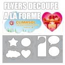 Flyers 350g Vernis sélectif Pelliculé Recto/Verso a la decoupe / forme