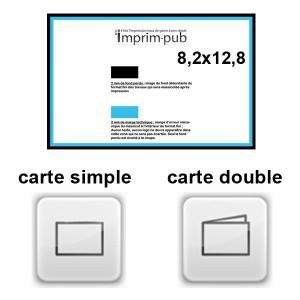 Cartes 8,2x12,8 non Pellicule