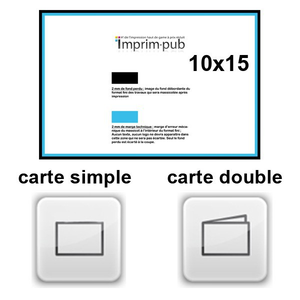 cartes 10x15 pellicule recto