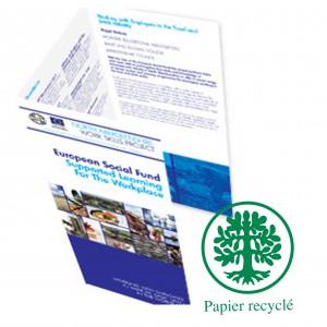 Depliants/Plaquettes ecologique 63x30 3 volets A4