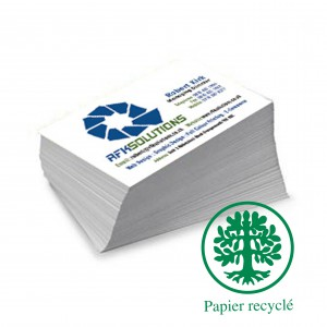 Cartes de Correspondance double ecologique 10x21