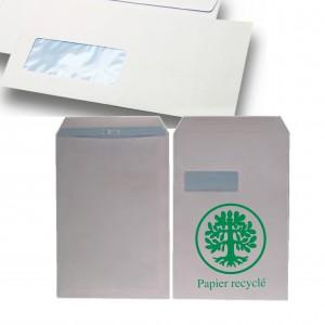 Enveloppes ecologique C4 Kraft avec ou sans fenetre (A4)