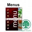 Menus de restaurants ecologique A5 ouvert