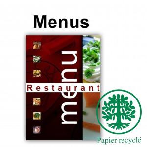Menus de restaurants ecologique 63x30 ouvert