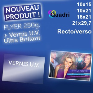 Flyers 250g vernis UV Recto/Verso