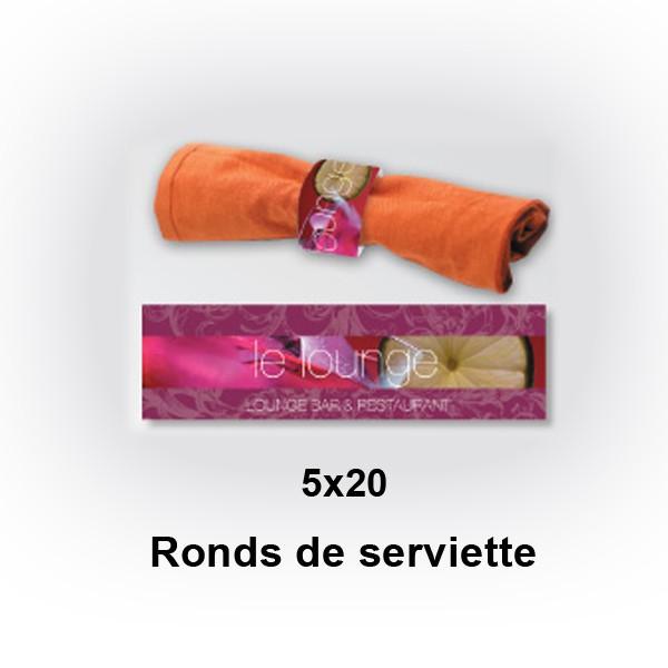 ronds de serviette 5x20 impression rond de serviette 5x20 imprimer en ligne pas cher. Black Bedroom Furniture Sets. Home Design Ideas